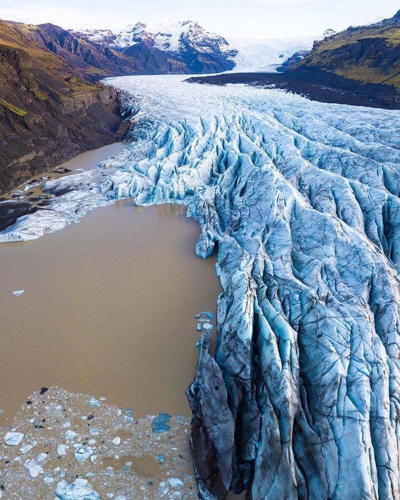 Ледник в Исландии дроны, фото с высоты, фотографии с дронов, фотография