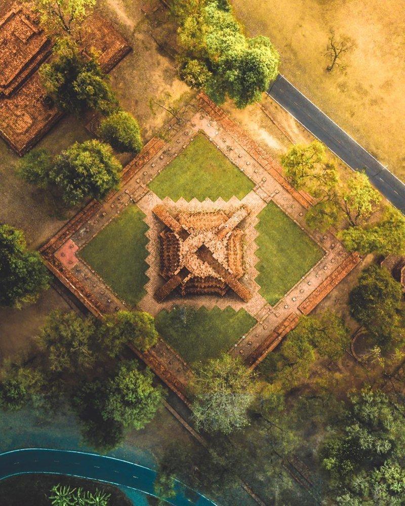 Пирамиды Майя в Мексике дроны, фото с высоты, фотографии с дронов, фотография