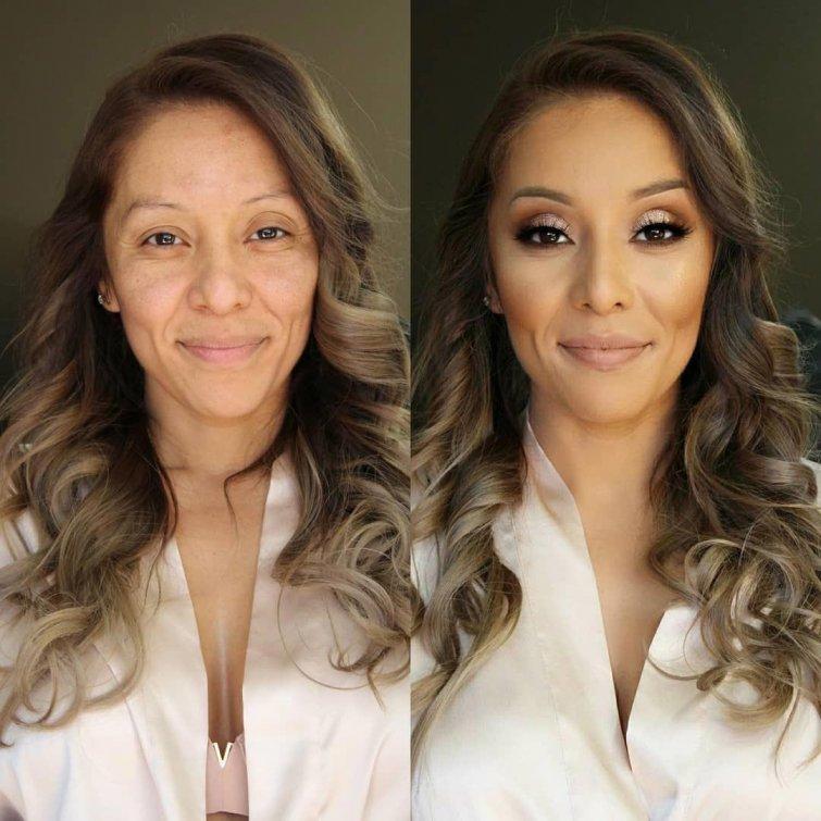 25 женщин до и после макияжа: некоторые так изменились, что их сложно узнать