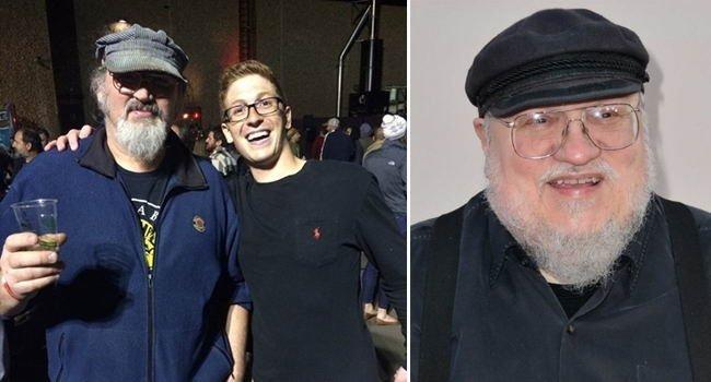 А этот парень решил, что встретил автора «Игры престолов» Джорджа Мартина в мире, знаменитости, люди, обман, похожи, спутали