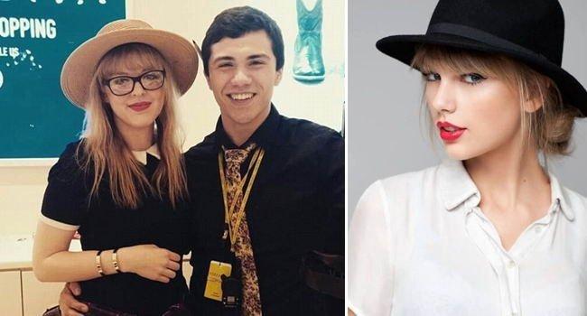 А это  не Тейлор Свифт в мире, знаменитости, люди, обман, похожи, спутали