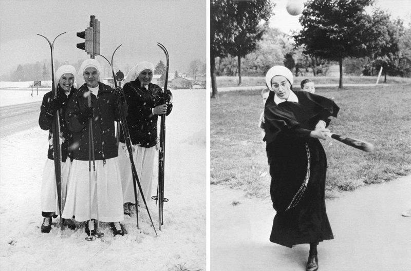 Они ходят на лыжах Монастырь, Монахини, интересное, отдых, служители бога, фото, юмор