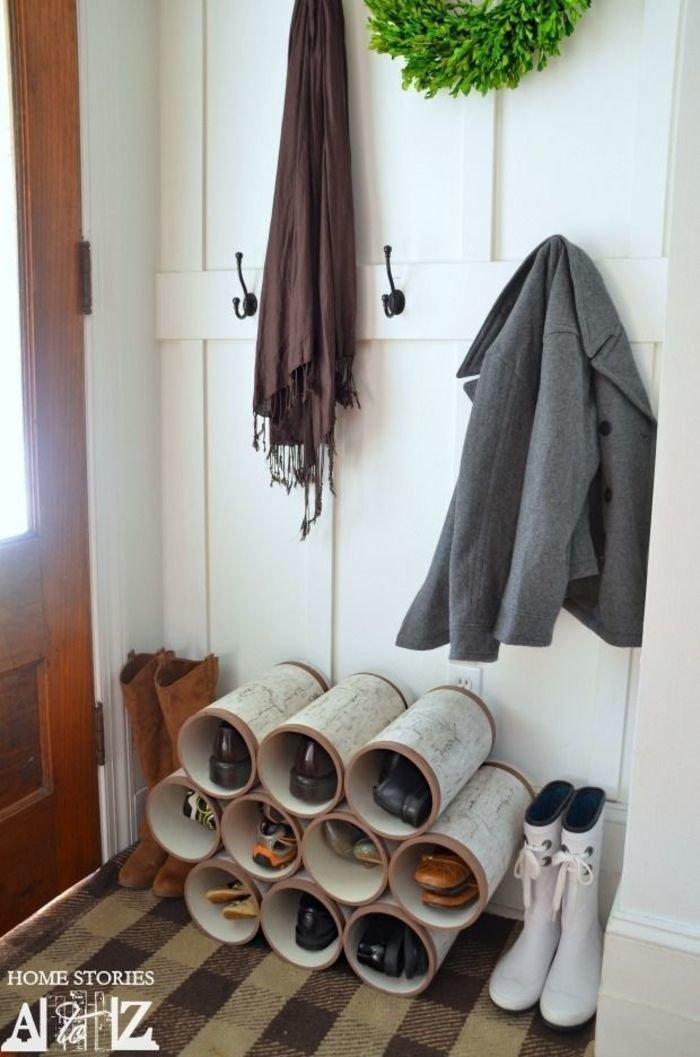 Компактное и удобное хранение обуви lifehack, идеи для дома, идеи для зала, идеи для спальной комнаты, крутота, полезности, хитрости