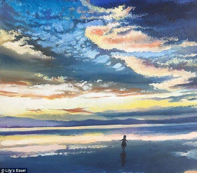 """Картина """"Царство грез"""" осталась в личной коллекции автора болезнь, жажда жизни, инвалид, картины, китай, сила духа, художница, художница-инвалид"""