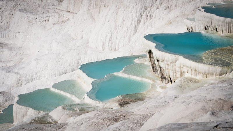 8. Памуккале, Турция  интересно, планета земля, природа, удивительное рядом, факты о земле, факты о нашей планете