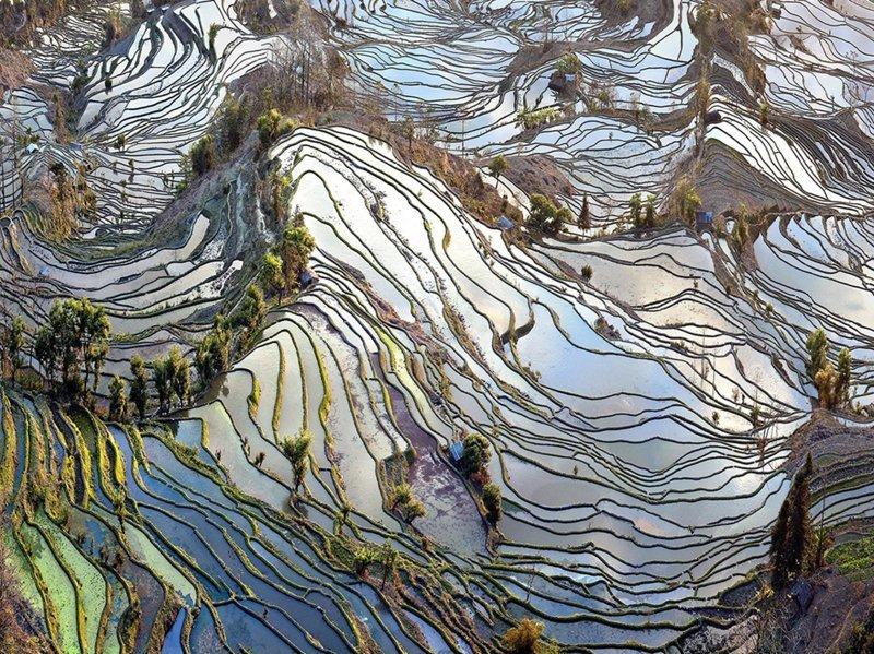 11. Старые поля, Китай  интересно, планета земля, природа, удивительное рядом, факты о земле, факты о нашей планете