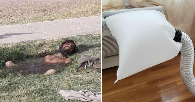 15 фотографий, которые показывают, что такое настоящая летняя жара жара, зной, кондиционер, лето, лужа, спасение, таять