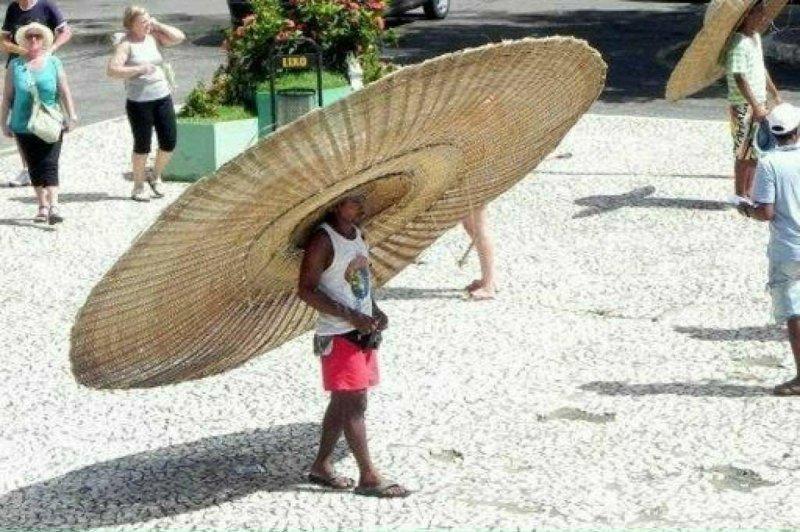 15. Такая шляпа сделает любого парня самым популярным на пляже. жара, зной, кондиционер, лето, лужа, спасение, таять