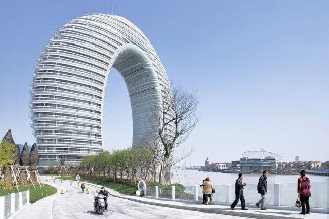Отель «Шератон Хучжоу», Хучжоу, Китай красота, небоскребы, самый-самый, строительство, удивительное, фантастика