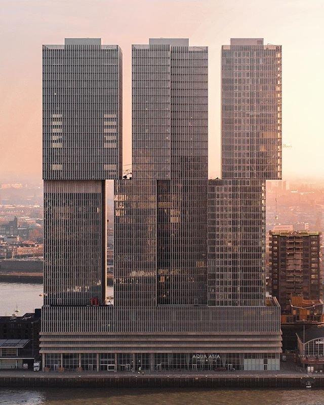 De Rotterdam, Роттердам, Нидерланды красота, небоскребы, самый-самый, строительство, удивительное, фантастика
