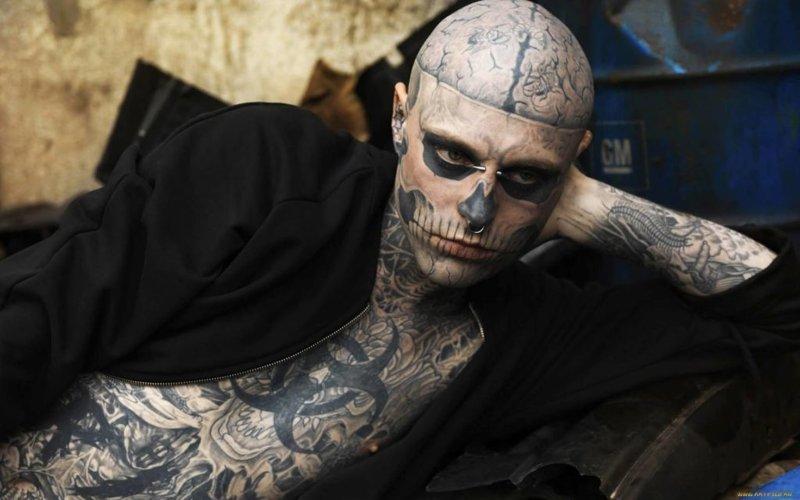 Zombie Boy покончил жизнь самоубийством Zombie Boy, ynews, знаменитости, самоубиство, смерть, сми, тату