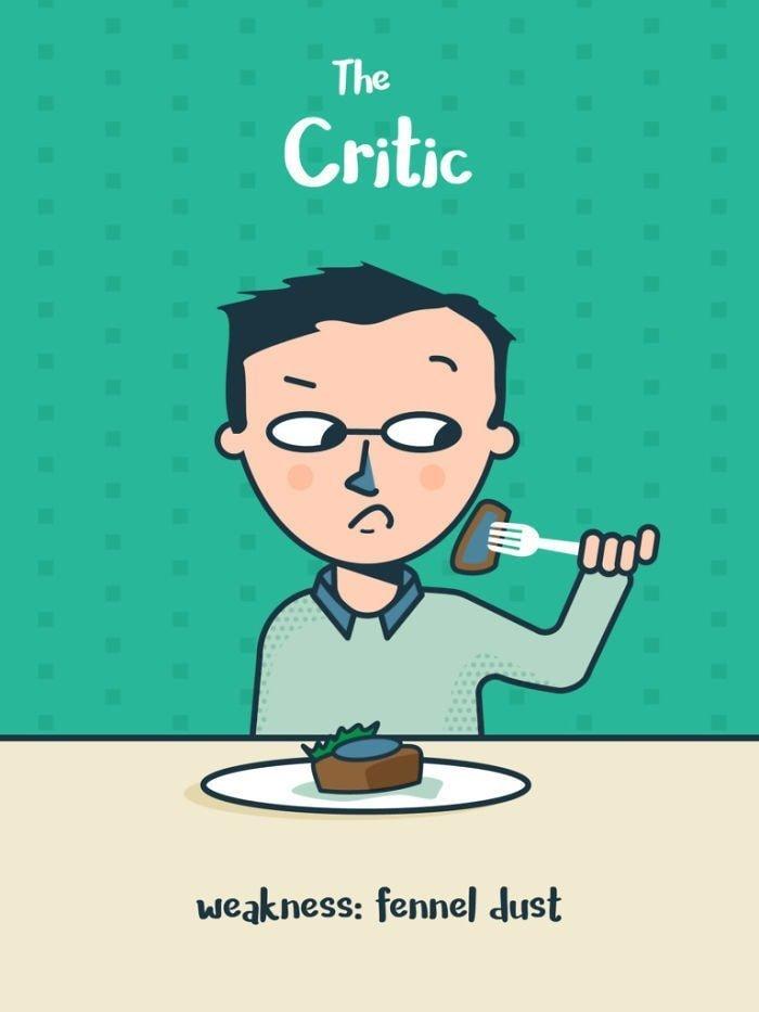 6. Критик. Слабость: семена фенхеля еда, иллюстрация, классификация, люди, пища