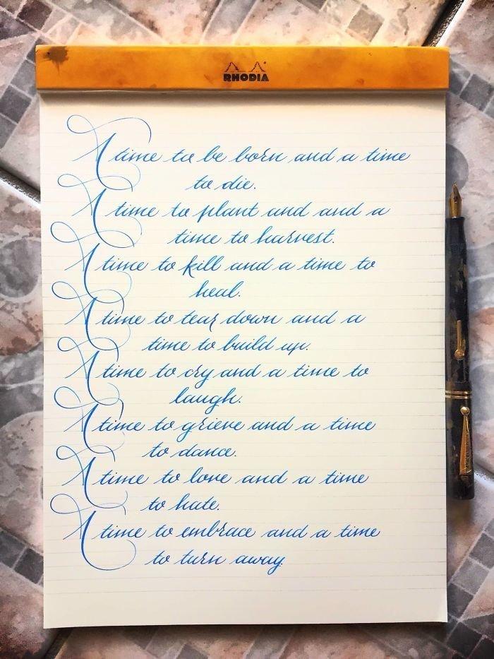 38. искусство, каллиграфия, красота, образец, письмо, почерк, пример