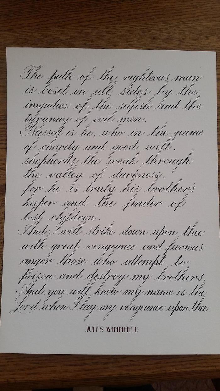 44. искусство, каллиграфия, красота, образец, письмо, почерк, пример