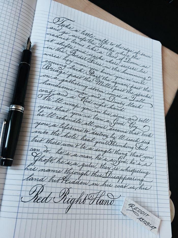 23. искусство, каллиграфия, красота, образец, письмо, почерк, пример