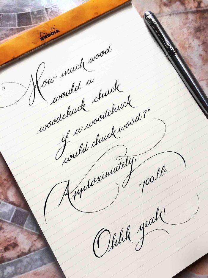 8. Скороговорка искусство, каллиграфия, красота, образец, письмо, почерк, пример