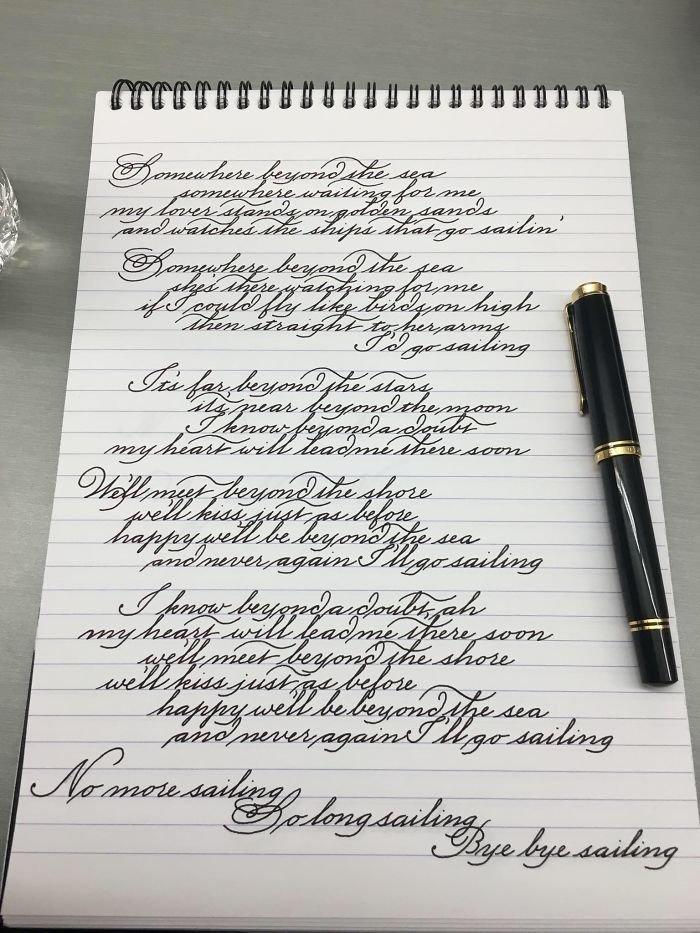 24. искусство, каллиграфия, красота, образец, письмо, почерк, пример
