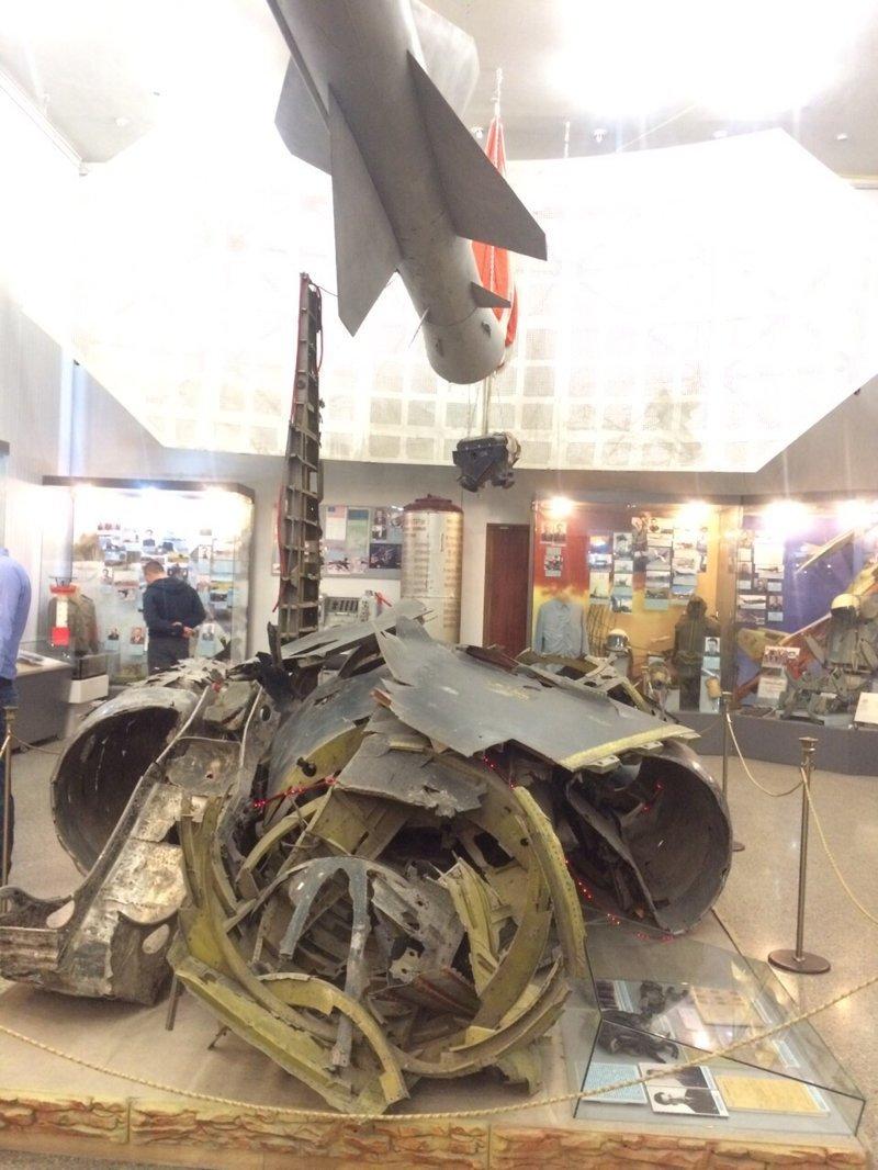 Остатки Американского самолета разведчика U-2, который был сбит над Свердловском. Центральный музей Вооружённых Сил, музей, фотоэкскурсия