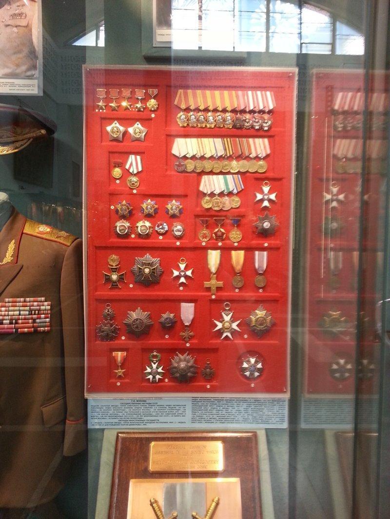 Медали Жукова Г.К. Центральный музей Вооружённых Сил, музей, фотоэкскурсия
