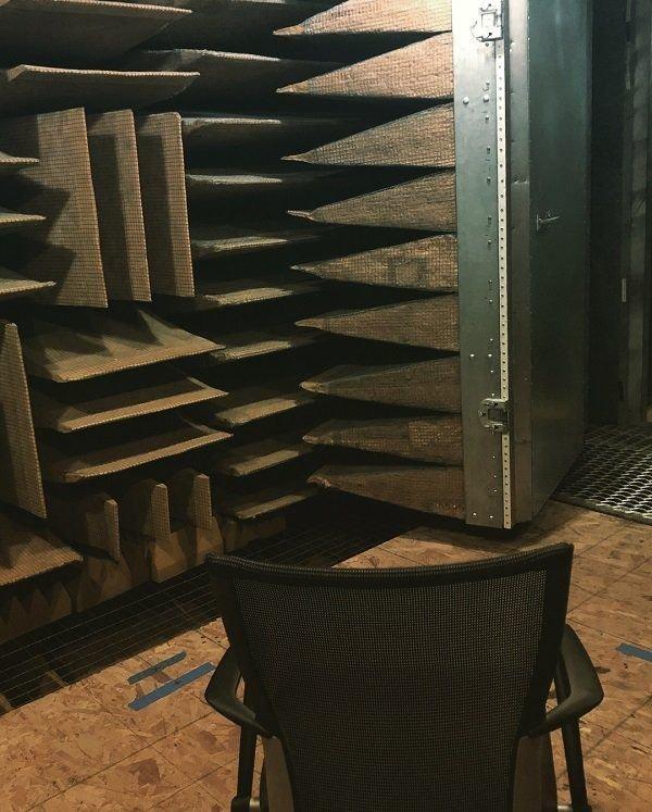 Безэховая камера — самое тихое место в мире безэховая камера, испытания, тишина
