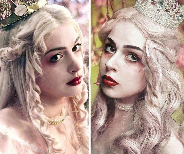 Белая Королева, «Алиса в Стране чудес» Юлия Гудков, кино, косплей, люди, мультик, перевоплощение, персонаж