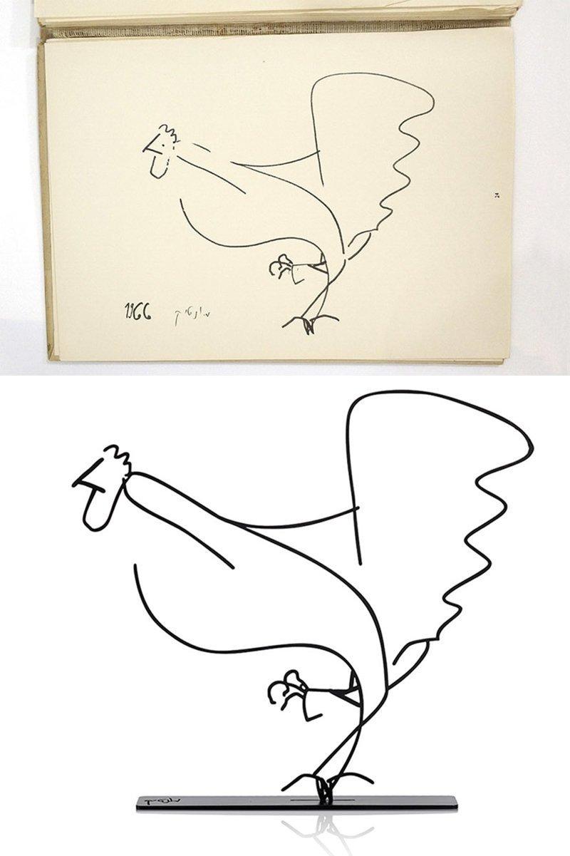 Минималистские скульптуры на основе рисунков из книги 50-летней давности Израиль, Скульптуры, дизайнер, дизайнерская идея, животные, металлические, минимализм, проект