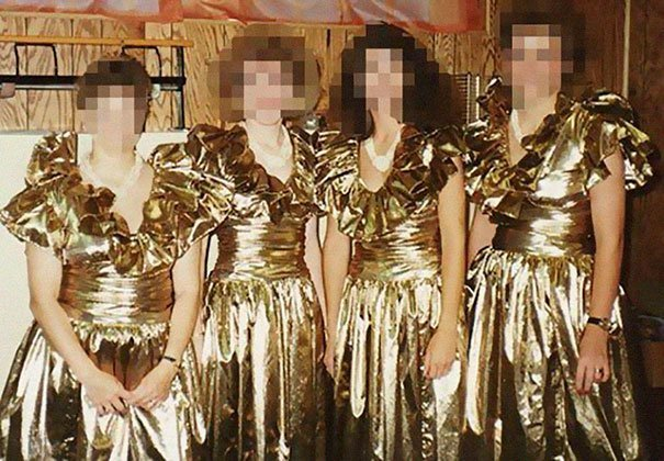 15. Подружка невесты, винтажные фото, мода, наряды, свадебные платья, свадебные снимки, смешное, юмор