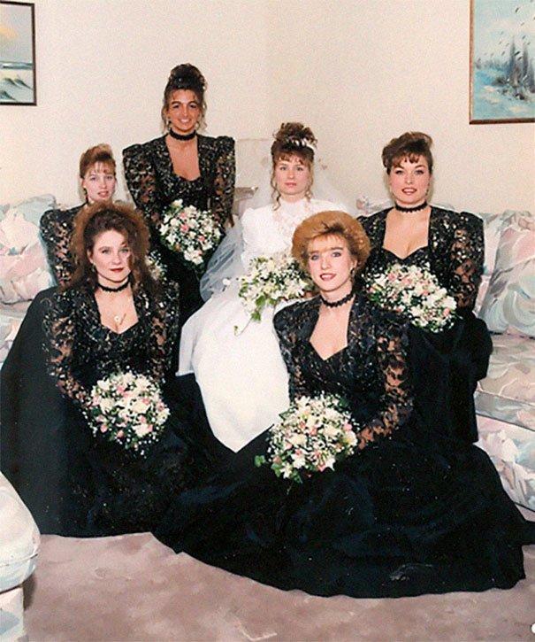 11. Подружка невесты, винтажные фото, мода, наряды, свадебные платья, свадебные снимки, смешное, юмор