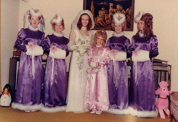 3. Подружка невесты, винтажные фото, мода, наряды, свадебные платья, свадебные снимки, смешное, юмор