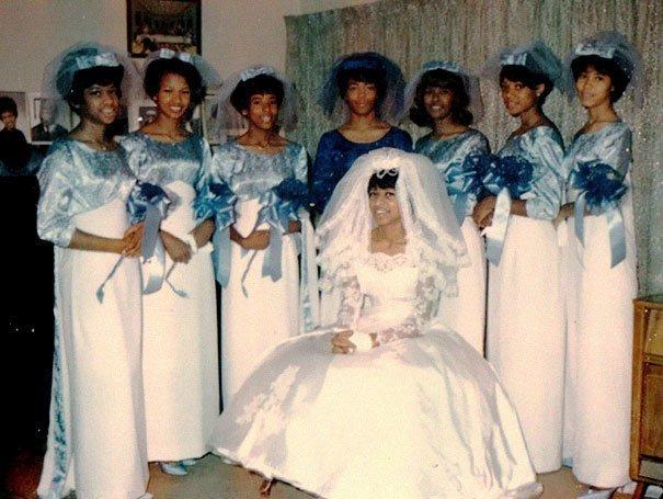 22. Подружка невесты, винтажные фото, мода, наряды, свадебные платья, свадебные снимки, смешное, юмор