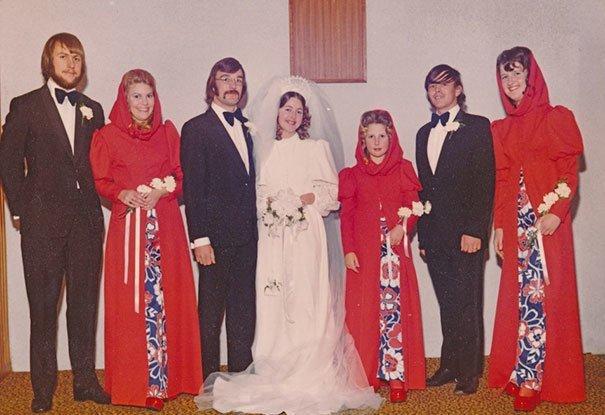 10. Подружка невесты, винтажные фото, мода, наряды, свадебные платья, свадебные снимки, смешное, юмор