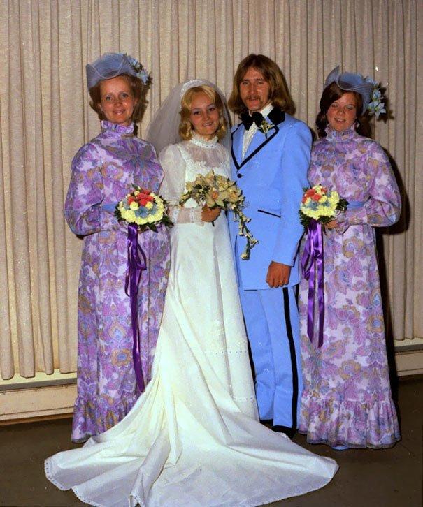 9. Подружка невесты, винтажные фото, мода, наряды, свадебные платья, свадебные снимки, смешное, юмор