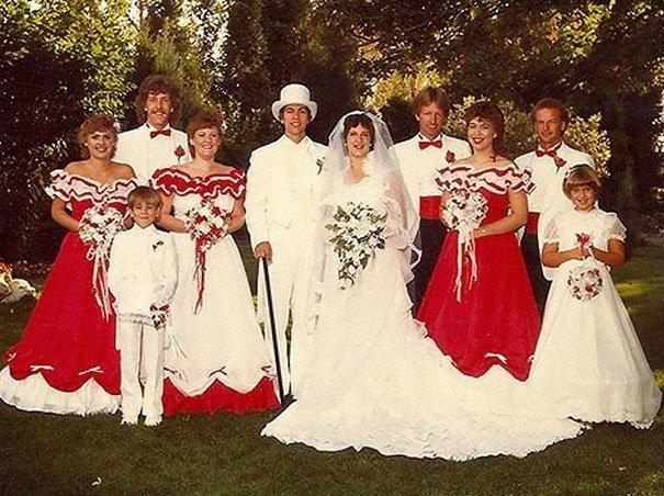 24. Подружка невесты, винтажные фото, мода, наряды, свадебные платья, свадебные снимки, смешное, юмор