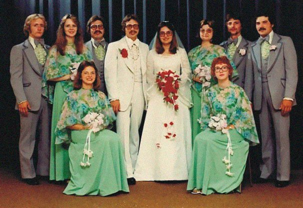19. Подружка невесты, винтажные фото, мода, наряды, свадебные платья, свадебные снимки, смешное, юмор