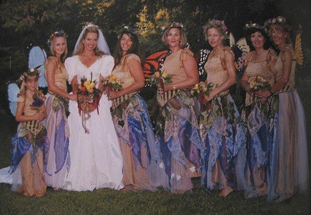 20. Подружка невесты, винтажные фото, мода, наряды, свадебные платья, свадебные снимки, смешное, юмор
