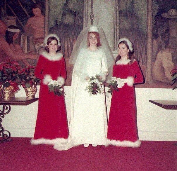 16. Подружка невесты, винтажные фото, мода, наряды, свадебные платья, свадебные снимки, смешное, юмор