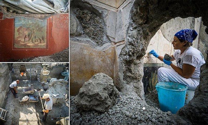 Археологи добыли новые сокровища в Помпеях артефакты, археология, наука, находки, помпеи, раскопки, ученые, фрески