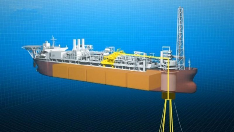 На фото конверсия танкера в нефтедобывающую плавучую установку «BW PIONEER» газовый флот, коммерческий флот, оффшорный флот, пассажирский флот, рыболовный флот, современный флот, танкерный флот, транспортный флот