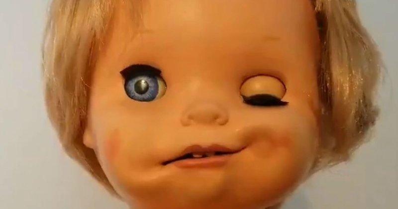 Эта адская движущаяся кукла из прошлого будет самым жутким, что вы сегодня увидите детство, жуть, игрушка, кукла, прошлое