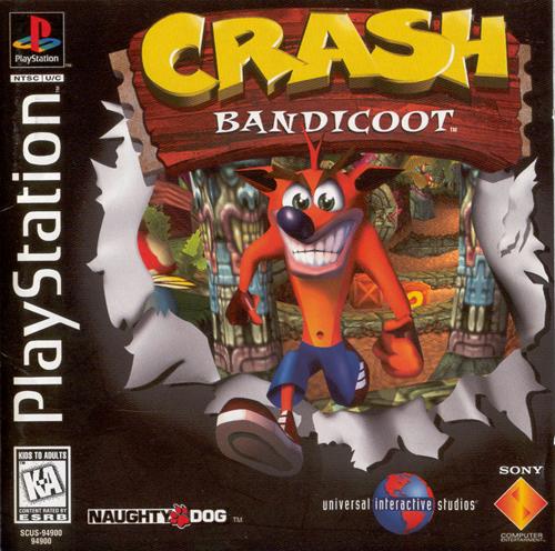 Crash Bandicoot 1996, 90 годы, playstation, джойстик, игра, компьютер, приставка