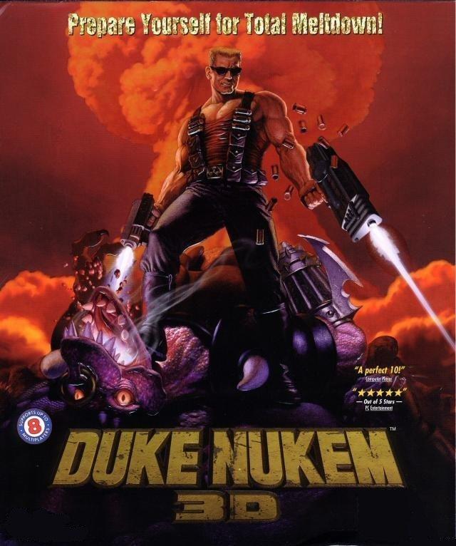 Duke Nukem 3D 1996, 90 годы, playstation, джойстик, игра, компьютер, приставка