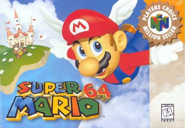 Super Mario 64 1996, 90 годы, playstation, джойстик, игра, компьютер, приставка