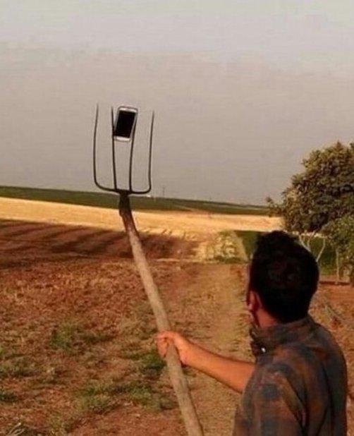 Деревенское селфи selfie, занимательно, подсмотрено, прикол, селфи, телефон, юмор