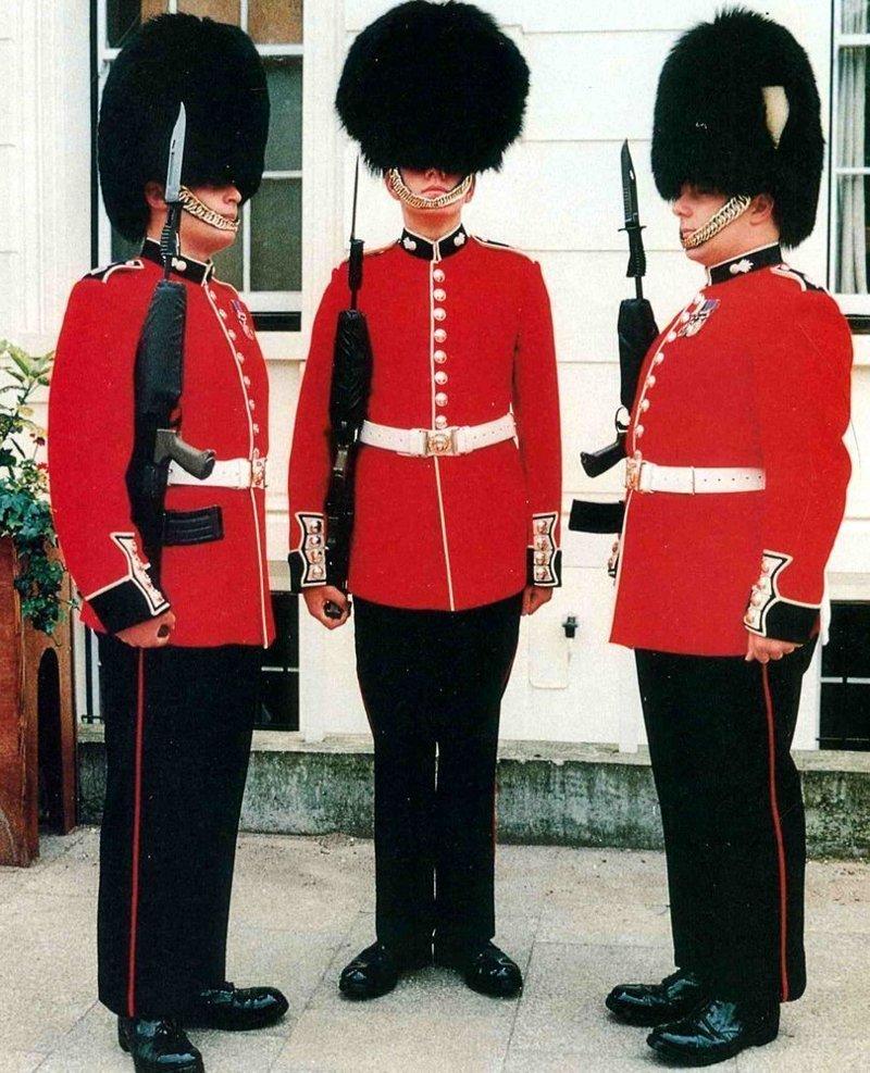 …и на парадах великобритания, гвардия, история, факты