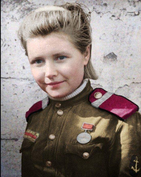Ещё раз взгляните на это лицо. Верите? Вот и немцы не верили… война, история, наши женщины