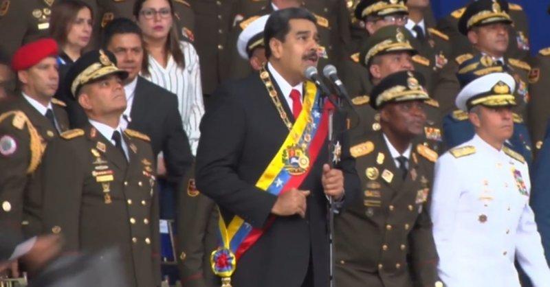Мадуро не пострадал, однако было ранено семь охранников президента Николас Мадуро, венесуэла, дроны, новости, покушение