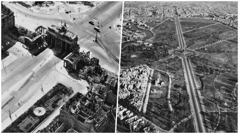 20+ фотографий, показывающих насколько сильно был разрушен Берлин после войны берлин после войны, вторая мировая, вторая мировая война, исторические фотографии, история