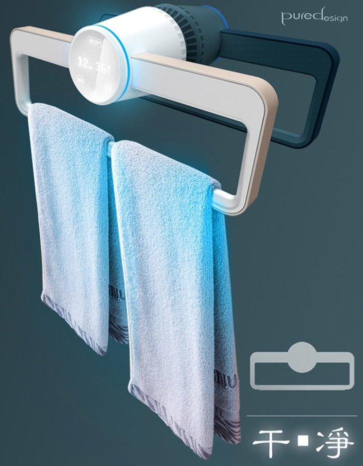 Вешалка для полотенец, которая не только высушит их, но и продезинфицирует будущее, в мире, гаджеты, где купить, круто, технология