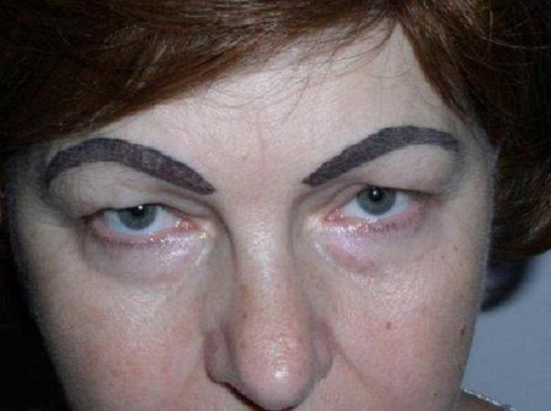 8. Судя по линиям, бровист был пьян  брови, внешность, девушки, красота, татуаж