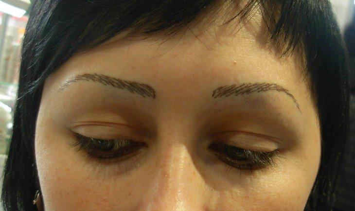7. Имитация волосков: Миссия провалена брови, внешность, девушки, красота, татуаж